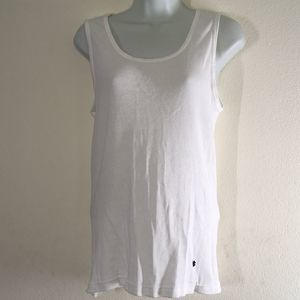 Lucky Brand White Ribbed Underwear Top